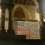 """Un nou piquet informatiu crida al boicot de """"El Corte Inglés"""""""