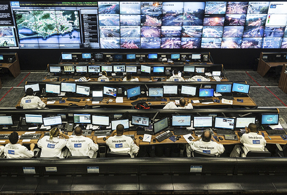 The control room of the Rio Operations Centre Rio De Janeiro Brazil By David Levene 16/5/14