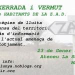 [Suspès] 23 de gener|Xerrada i vermout amb habitants de la ZAD a l'Ateneu la Sèquia