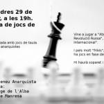 29 de gener|Cafeta de jocs de taula a la Ruda