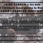 "18 de feb| Documental ""Mañana serás tú"" + sopador a la Ruda"