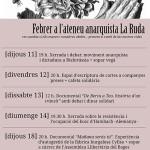 Activitats de febrer a l'Ateneu Anarquista la Ruda