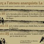 Activitats del mes de març a l'Ateneu Anarquista la Ruda