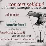 9 d'abril|Concert anti-repressiu a l'Ateneu Anarquista la Ruda