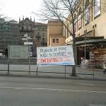 Crònica de la concentració a Manresa per la llibertat de les preses anarquistes
