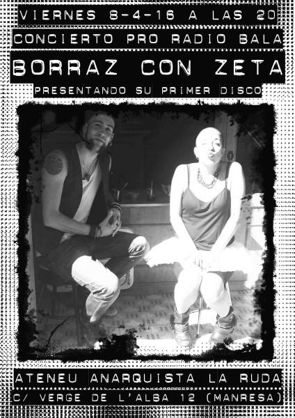 borraz con zeta (radio bala)