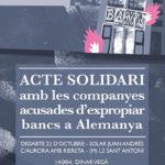 22 d'octubre | Acte solidari amb les companyes acusades d'expropiar bancs a Alemanya