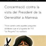 Concentració contra la visita de Carles Puigdemont a Manresa