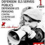 1 d'abril | Manifestació de la CGT per la defensa dels serveis públics a Manresa