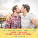 13 de març | Concentració a Berga contra l'homofòbia