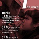 Primer de Maig a Berga