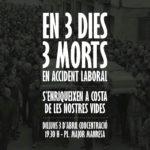 3 d'abril  | Manresa: concentració. 3 morts en 3 dies.