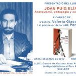 [Sallent] Joan Puig Elías, anarquismo, pedagogía y coherencia