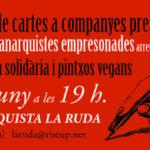 16 juny | Espai d'escriptura de cartes a preses + actualització de la situació de les anarquistes empresonades