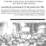 25 de juliol | Xerrada d'Arcàdia, Centre Educatiu Autogestionat al local de la CNT Manresa