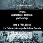 20 d'agost| Xerrada amb la Federación de Anarquistas de Gran Canaria i la PAHC a Manresa
