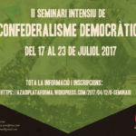 Últims dies per apuntar-se al Seminari Intensiu sobre Confederalisme Democràtic