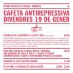 19 de gener | Cafeta antirepressiva a l'Ateneu Popular la Sèquia
