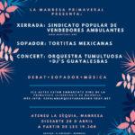 28 d'abril a les 19h.30 | Xerrada del sindicat popular de vendedores ambulantes a la Sèquia