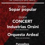 Concert de dissabte de Patum de l'Ateneu Columna Terra i Llibertat