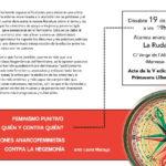 Dissabte 19: reflexions anarcofeministes contra la hegemonía a l'Ateneu Anarquista la Ruda