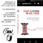 """[Manresa] Presentació del llibre """"Teixint la Història en Roig i Negre"""" 19/10/2019"""